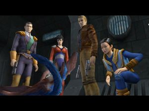 Edison Trent in the centre - the protagonist.